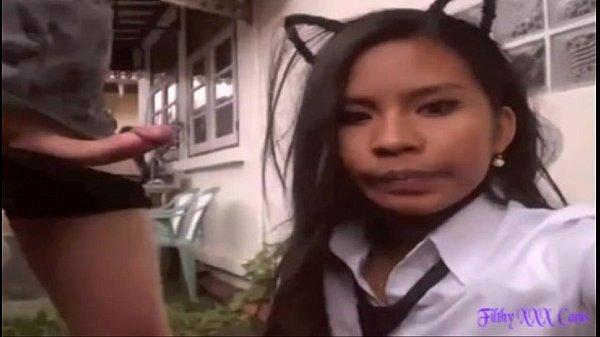 สาวอีสานมีผัวเป็นฝรั่ง ตั้งกล้องถ่ายคลิบxxx เย็ดกับผัวฝรั่ง ใส่ชุดนักศึกษา เย็ดกันเสียวมากๆ