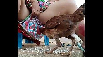 คลิปสาวไทยแนวโรคจิต ให้ข้าวไก่พร้อมเปิดหีคาผ้าถุง โคตรจะบ้า ออกแนวบ้ากาม